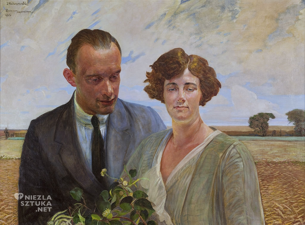Jacek Malczewski, Portret syna Rafała z żoną, sztuka polska, Niezła sztuka