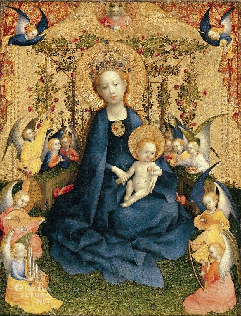 Stefan Lochner Madonna w Altanie Różanej   ok. 1440–1442, Wallraf-Richartz-Museum, Kolonia