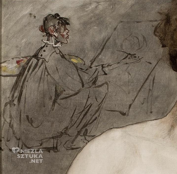 Anna Bilińska Bohdanowicz, autoportret, karykatura, sztuka polska, Niezła sztuka
