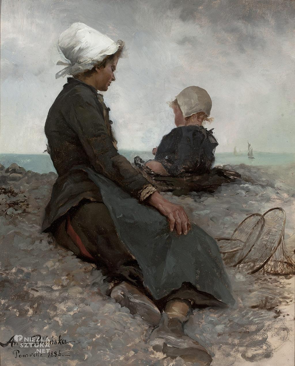 Anna Bilińska, Nad brzegiem morza, sztuka polska, Niezła sztuka