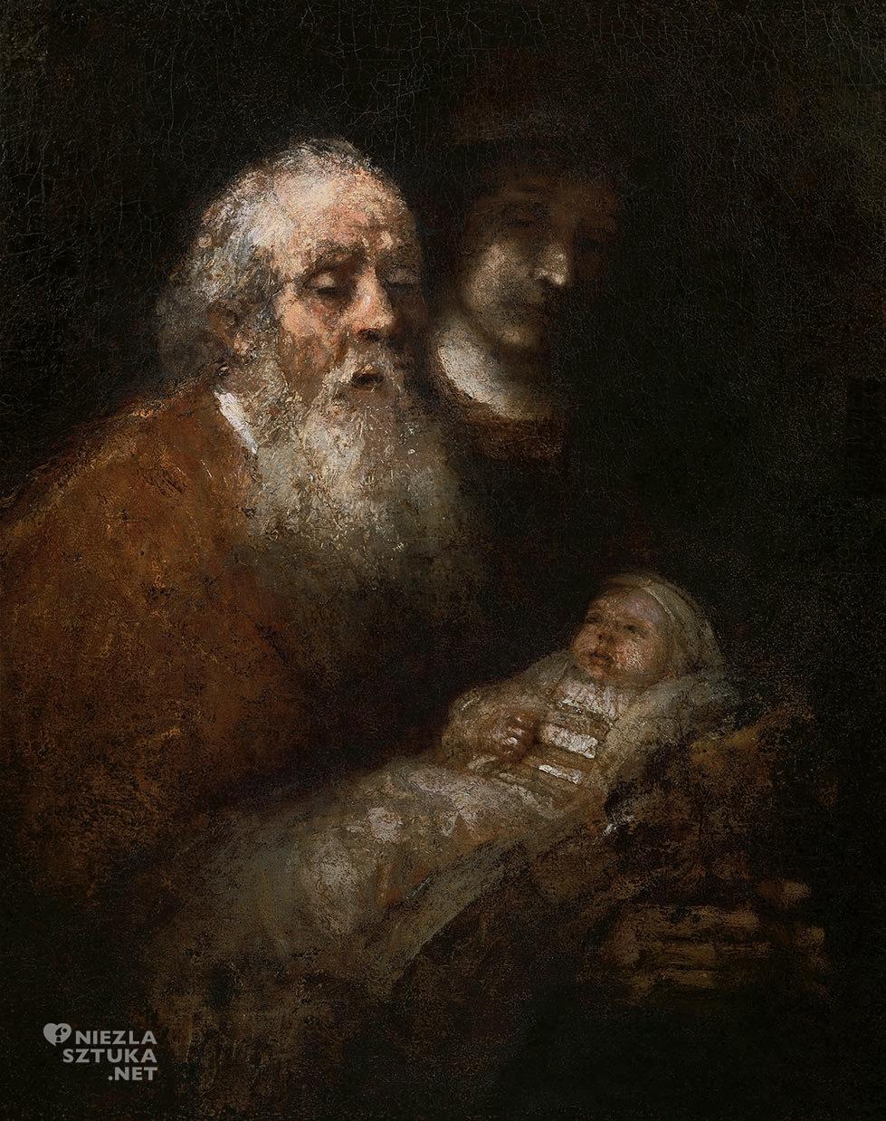 Rembrandt, Symeon w świątyni   1669, National Museum, Sztokholm, Niezła sztuka