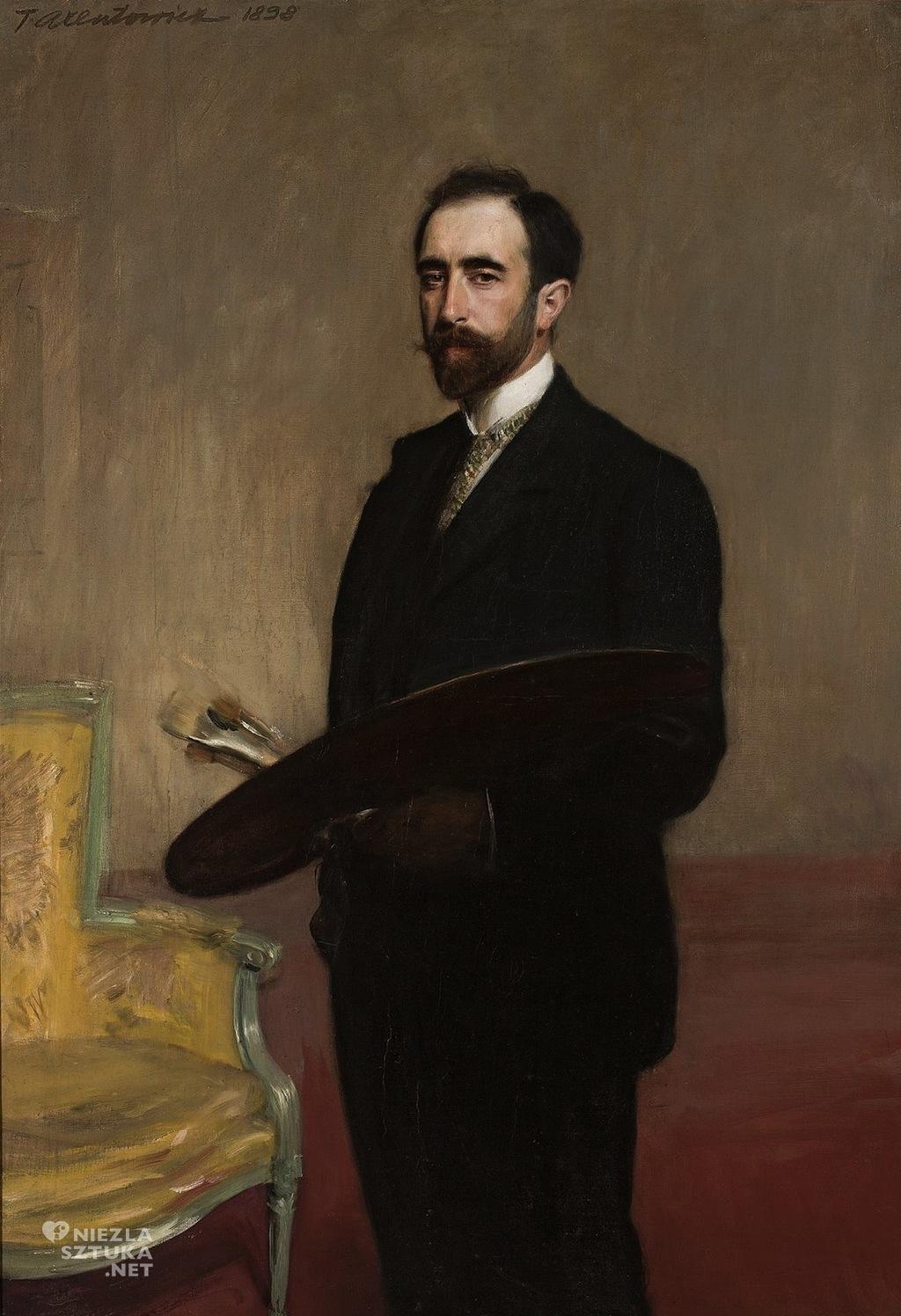Teodor Axentowicz Autoportret z paletą