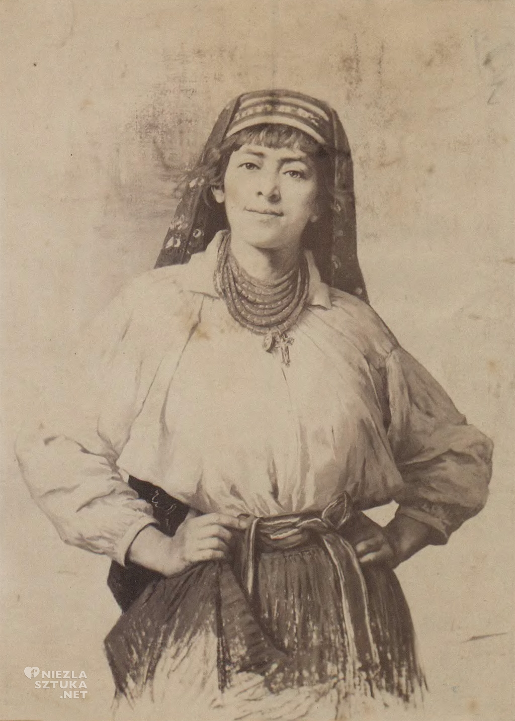 Anna Bilińska Autoportret w stroju ukraińskim