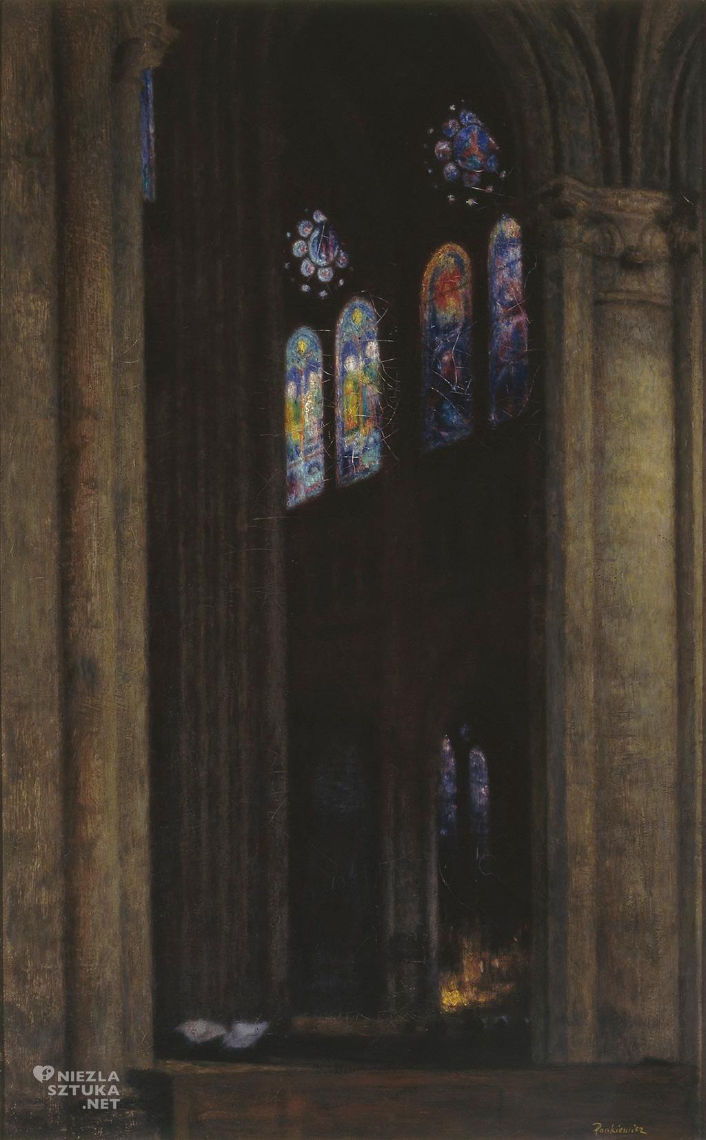 Józef Pankiewicz, Wnętrze katedry w Chartres, sztuka polska, malarstwo polskie, Niezła sztuka