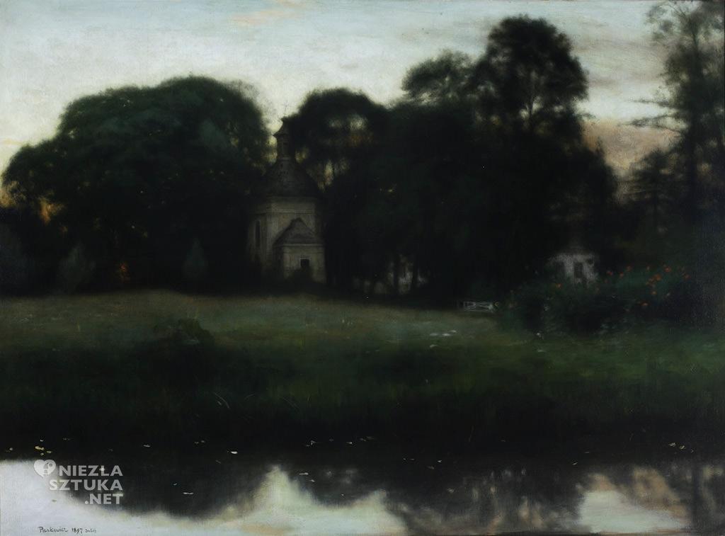 Józef Pankiewicz, Park w Duboju, pejzaż, sztuka polska, Niezła sztuka