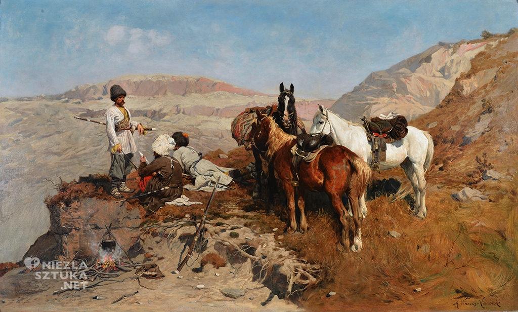 Alfred Wierusz-Kowalski Kaukaski zwiad, 1880