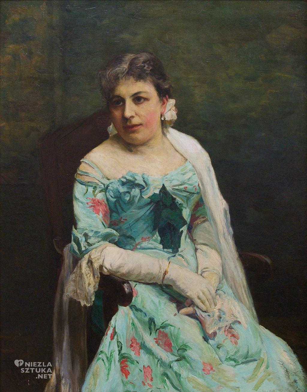 Alfred Wierusz-Kowalski Portret Jadwigi Wierusz-Kowalskiej, żony malarza