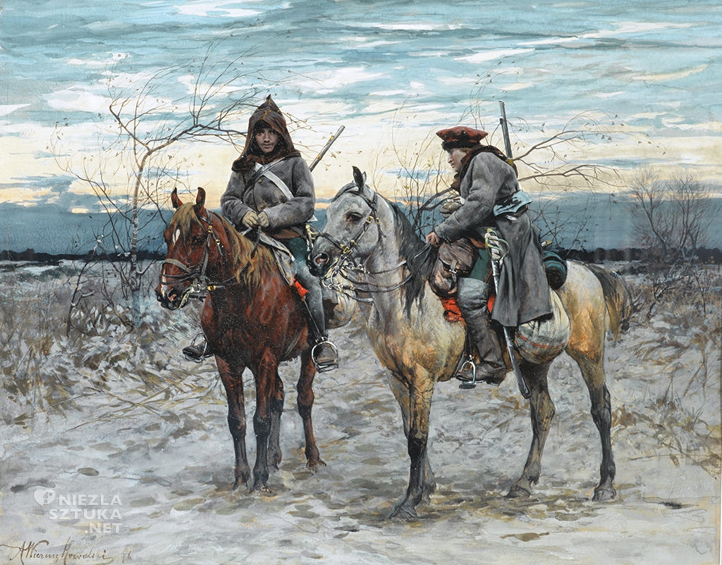 Alfred Wierusz-Kowalski Konny patrol