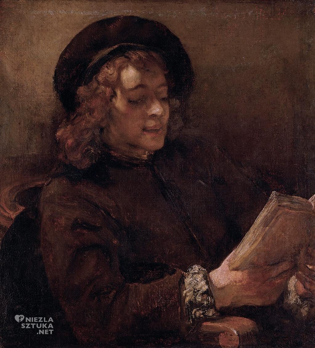 Rembrandt <em>Titus czytający</em>   ok. 1657-1658, Muzeum Historii Sztuki w Wiedniu