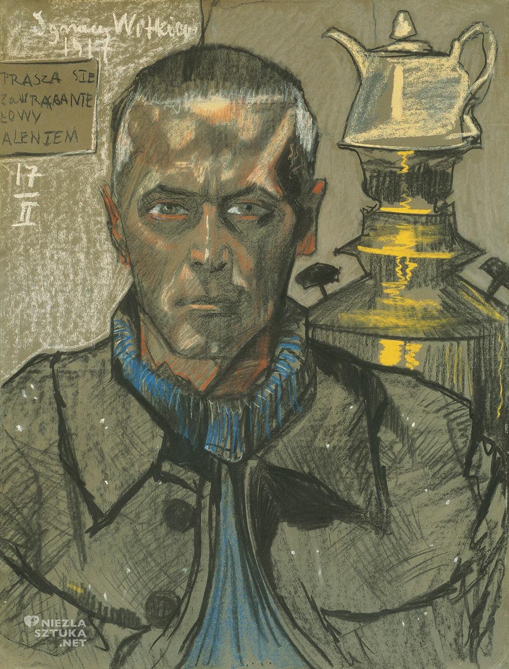 Stanisław Ignacy Witkiewicz Autoportret z samowarem