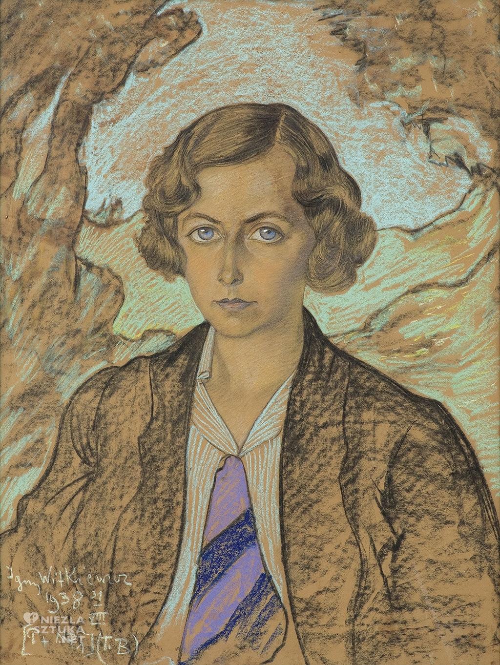 Stanisław Ignacy Witkiewicz (Witkacy)<em>Portret Ireny Kanafoskiej-Dembickiej, 31 VIII</em> | 1938 pastel, karton, 65 x 50 cm, fot. Agra Art