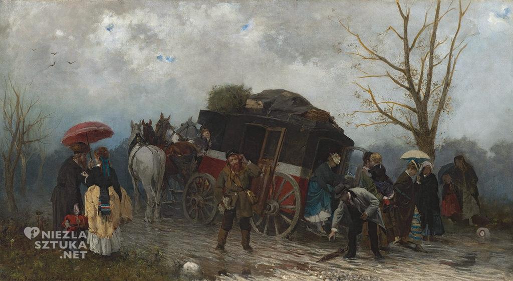 Alfred Wierusz-Kowalski Wypadek w podróży, 1873