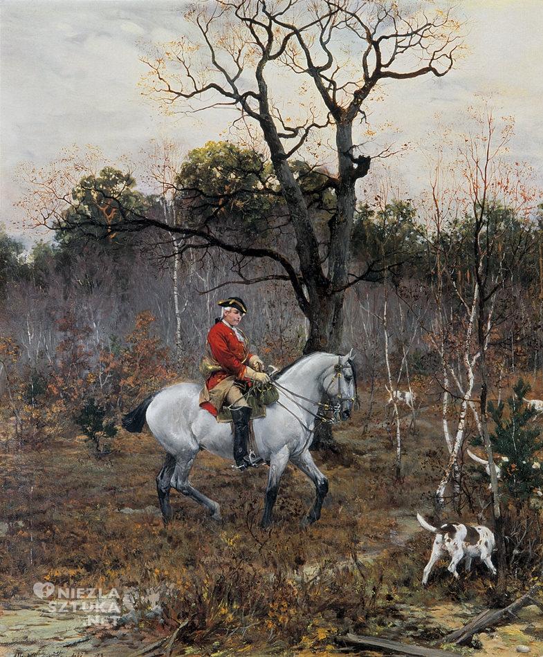 Alfred Wierusz-Kowalski,<em> Na polowaniu</em>,olej, płótno, 43 x 50,5, kolekcja prywatna, fot. Agra Art