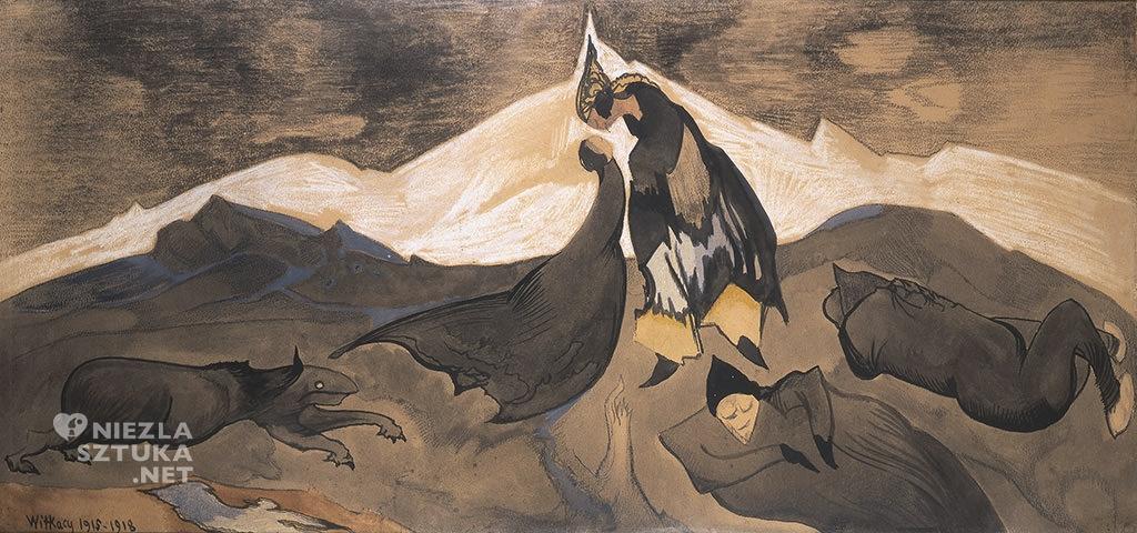 Stanisław Ignacy Witkiewicz (Witkacy) <em>Pocałunek mongolskiego księcia w lodowej pustyni</em> | Muzeum Narodowe w Warszawie