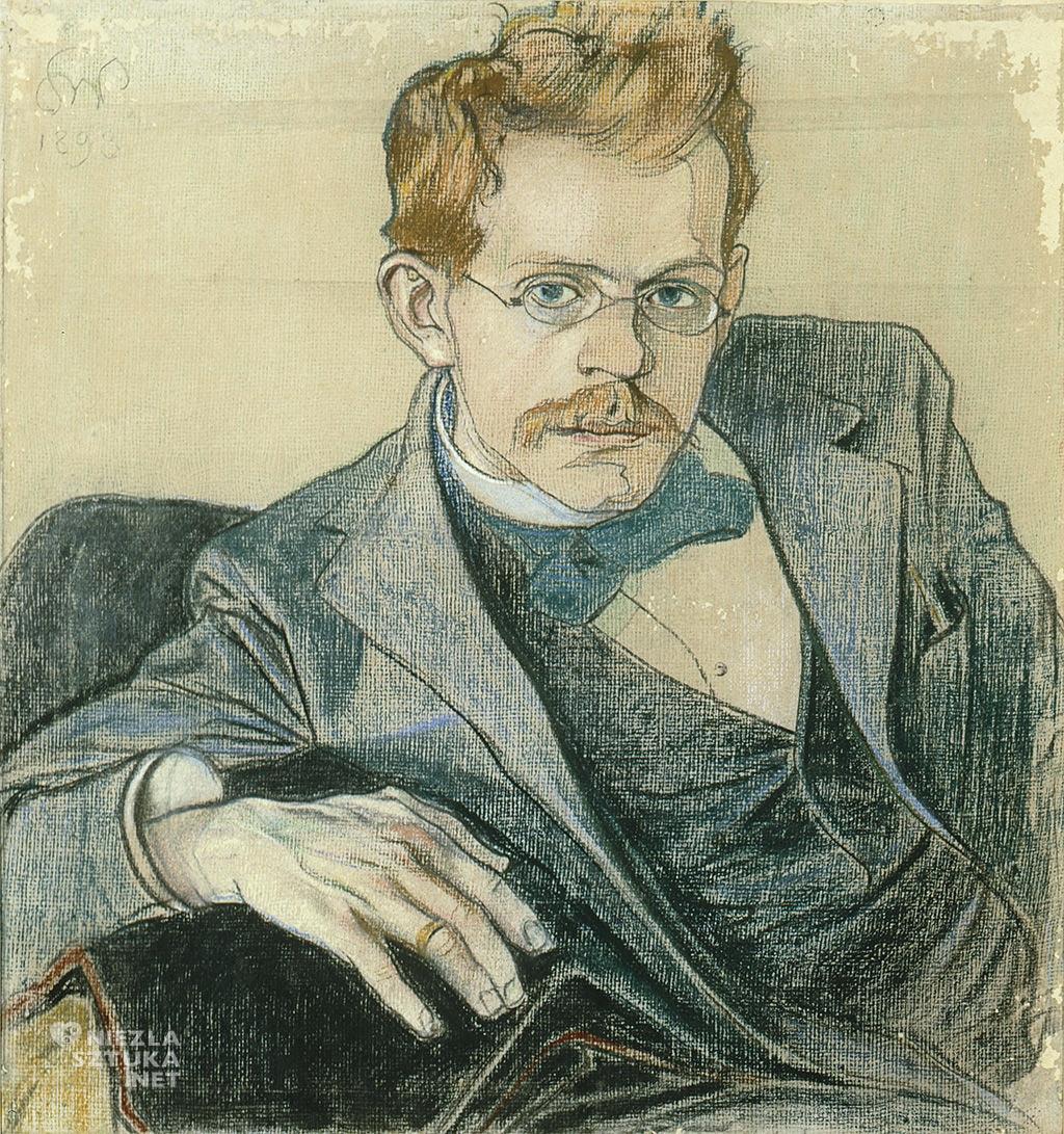 Stanisław Wyspiański, Józef Mehoffer, portret, polska sztuka, Niezła sztuka