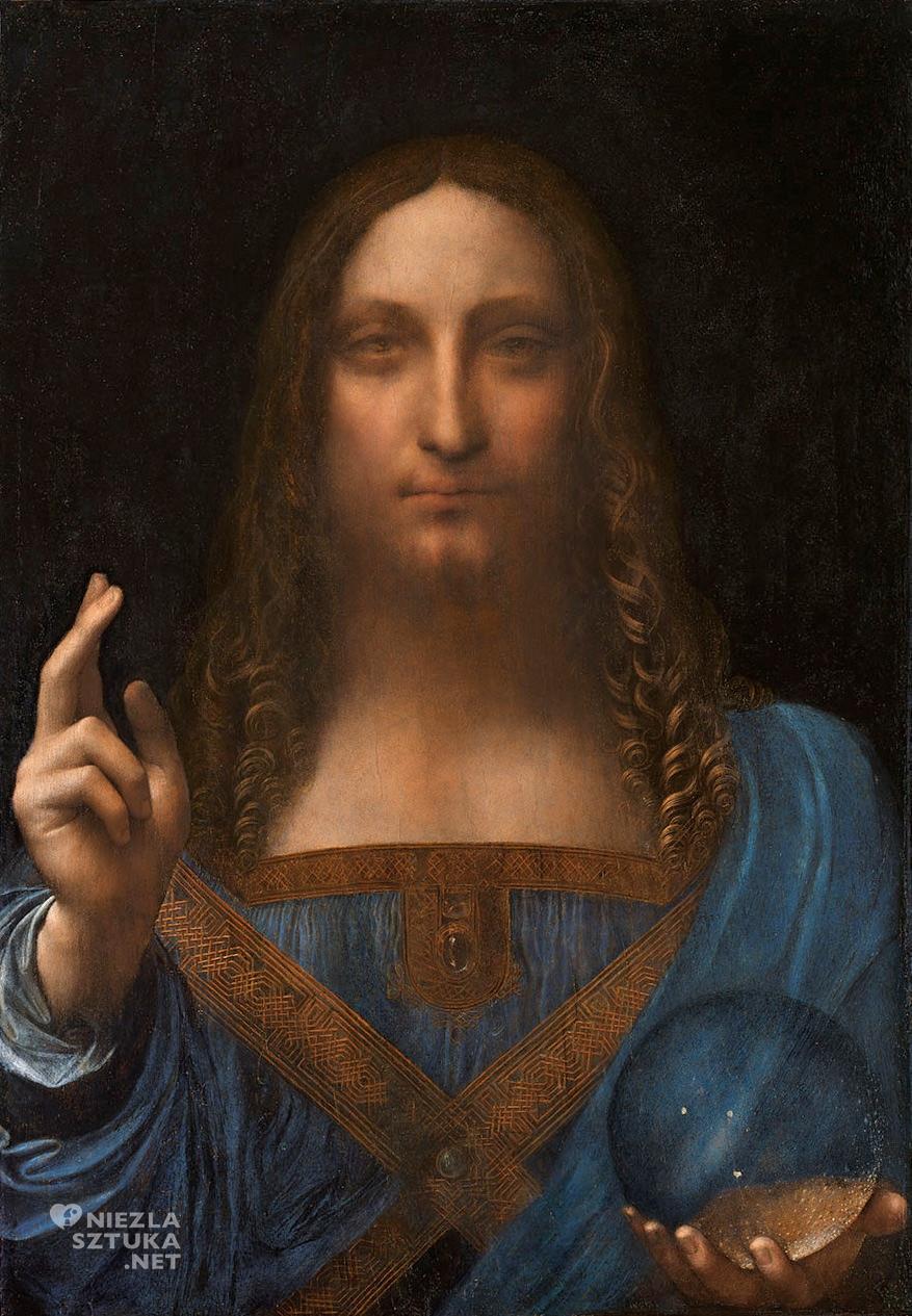 Leonardo da Vinci <em>Salvator Mundi</em> |olej na desce, 45,4 × 65,6 cm, ok. 1490–1519, prywatna kolekcja, fot. Christies