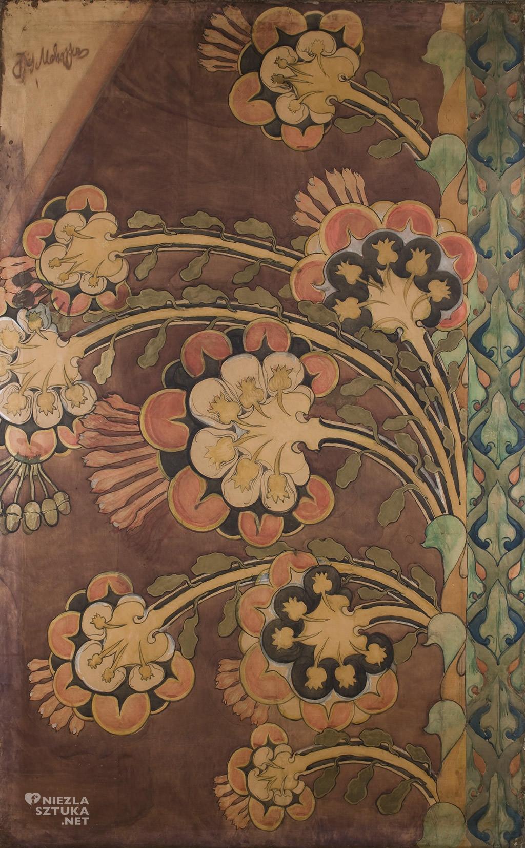 Józef Mehoffer Kwiaty projekt polichromii