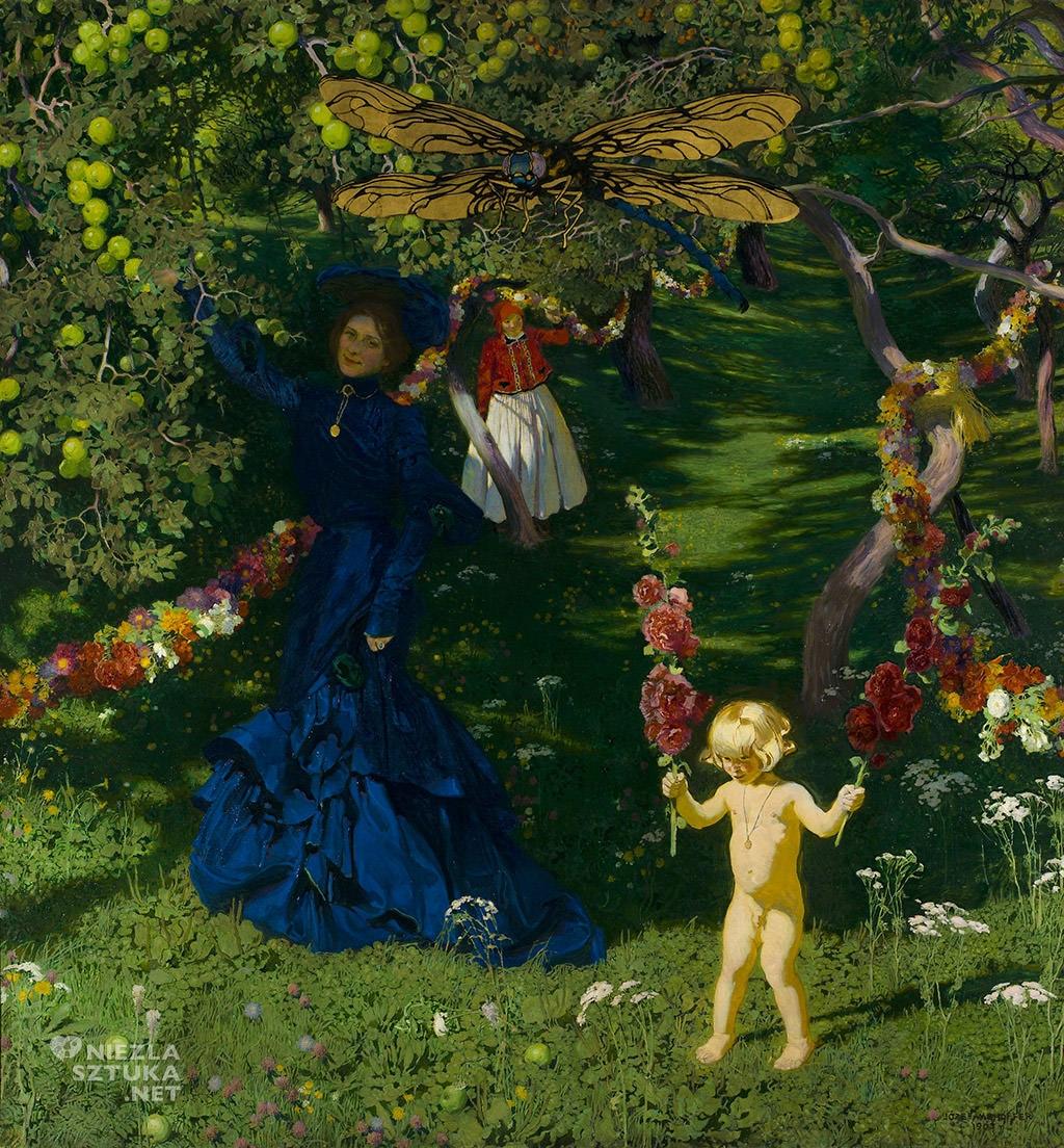 Józef Mehoffer, Dziwny ogród, sztuka polska, malarstwo polskie, Niezła sztuka