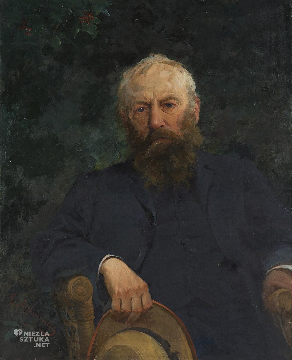 Kazimierz Alchimowicz, Portret Józefa Chełmońskiego, sztuka polska, malarstwo polskie, Niezła sztuka