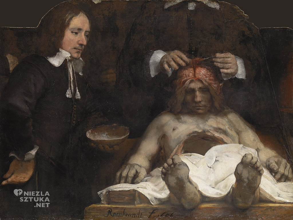 Rembrandt, Lekcja anatomii doktora Deymana, teatr anatomiczny, Amsterdam, Niezła sztuka
