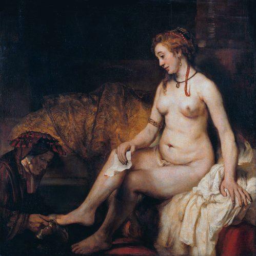 Rembrandt Batszeba w kąpieli Luwr Niezła sztuka