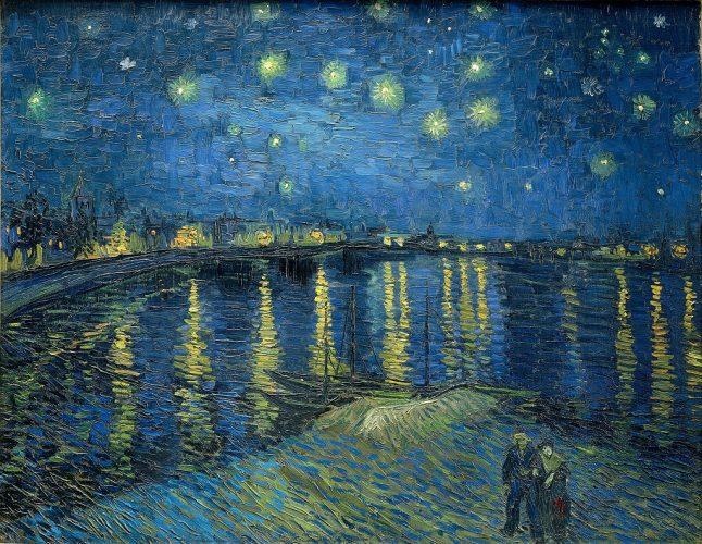 Vincent van Gogh, Gwieździsta noc nad Rodanem, Francja, Arles, Niezła Sztuka