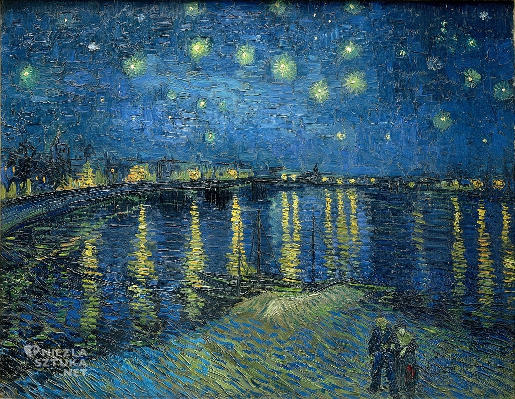Gwiaździsta noc nad Rodanem Vincent van Gogh