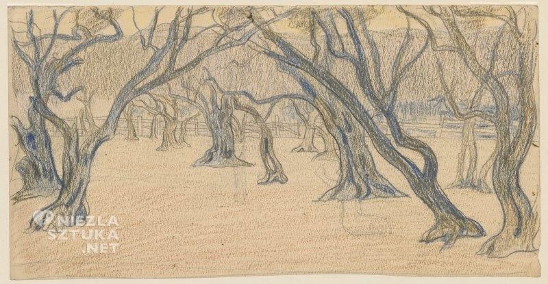 Jan Rembowski Aleja bezlistnych drzew | po 1900, Muzeum Narodowe w Warszawie