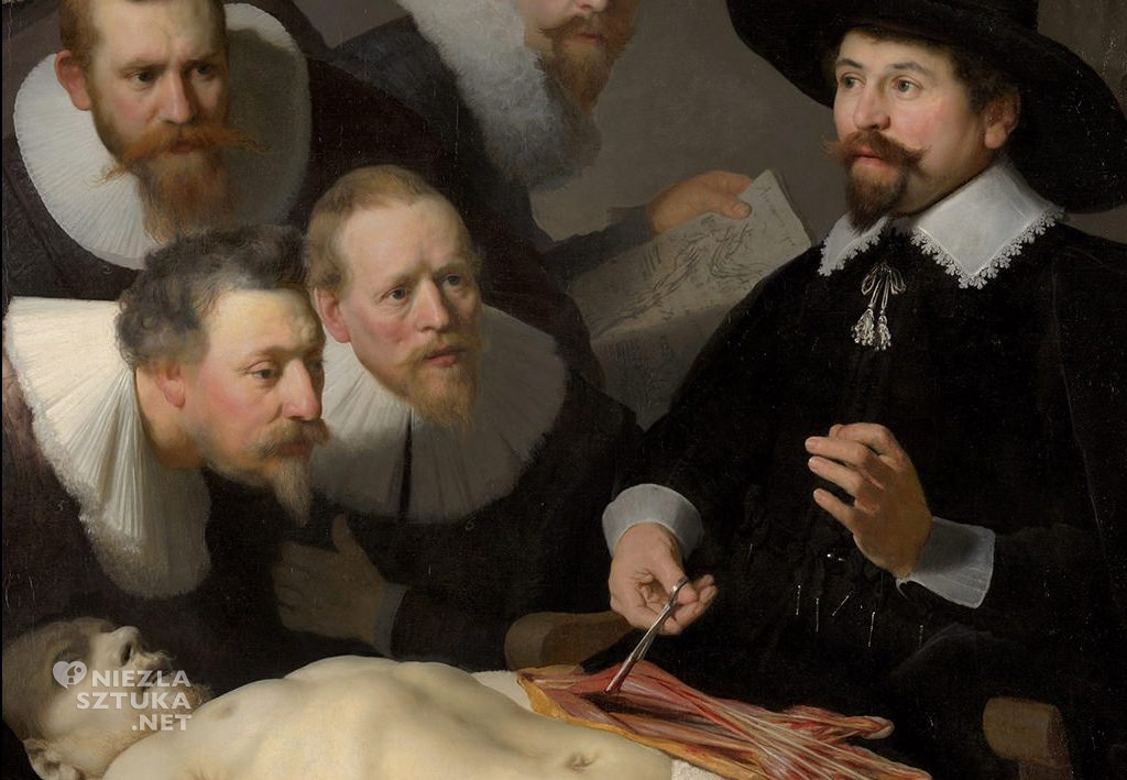 Rembrandt, Lekcja anatomii doktora Tulpa, Maurithuis, Haga, malarstwo holenderskie, Niezła sztuka