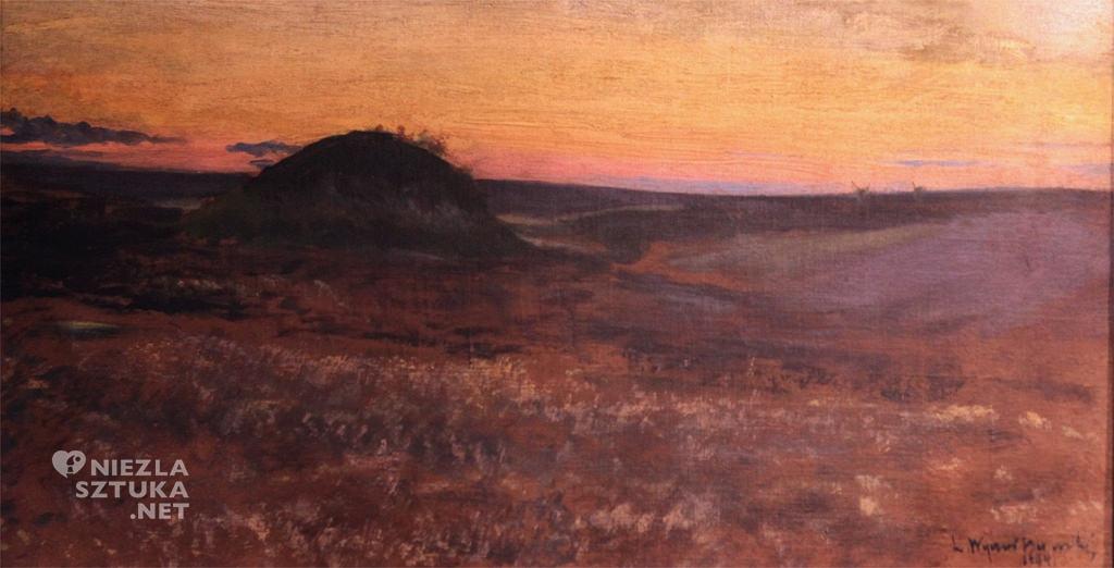Leon Wyczółkowski <em>Kurhan na Ukrainie</em> | 1903, olej, płótno, Muzeum Okręgowe w Bydgoszczy