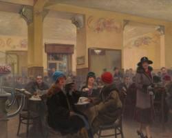 Józef Rapacki Wnętrze kawiarni Ziemiańska