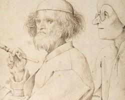 Pieter Bruegel Starszy, Malarz i kupiec, Malarz i koneser, Autoportret Bruegela, Autoportret, sztuka niderlandzka, szkic, Niezła Sztuka