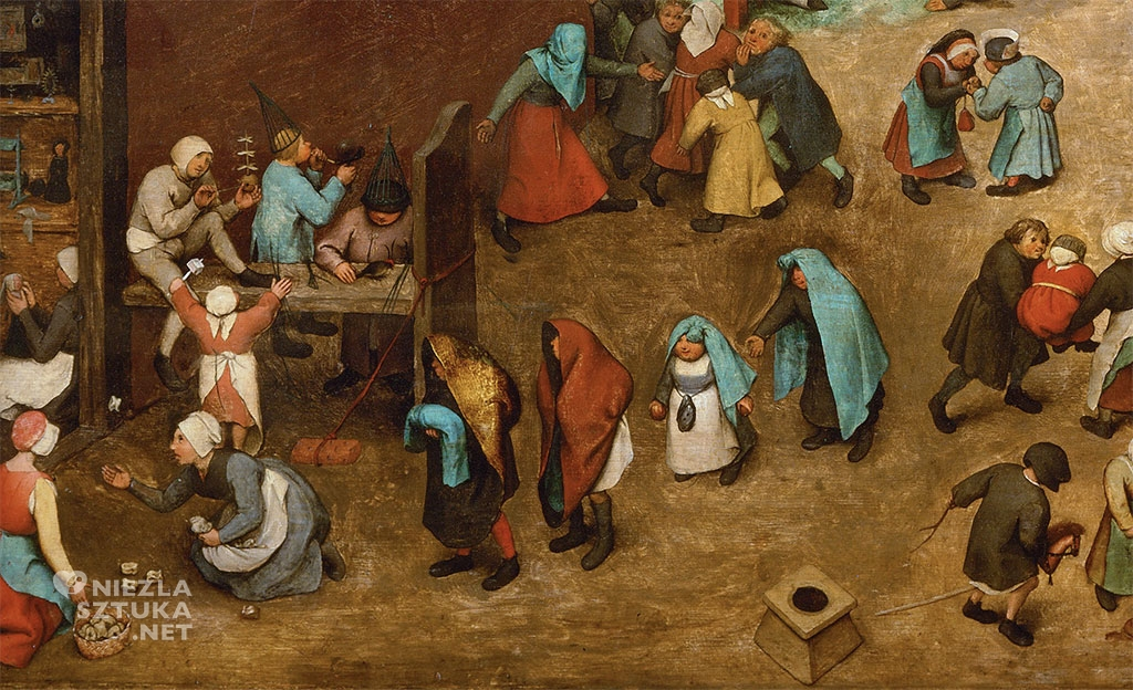 Pieter Bruegel Starszy Zabawy dziecięce, detal | 1560, Kunsthistorisches Museum, Wiedeń