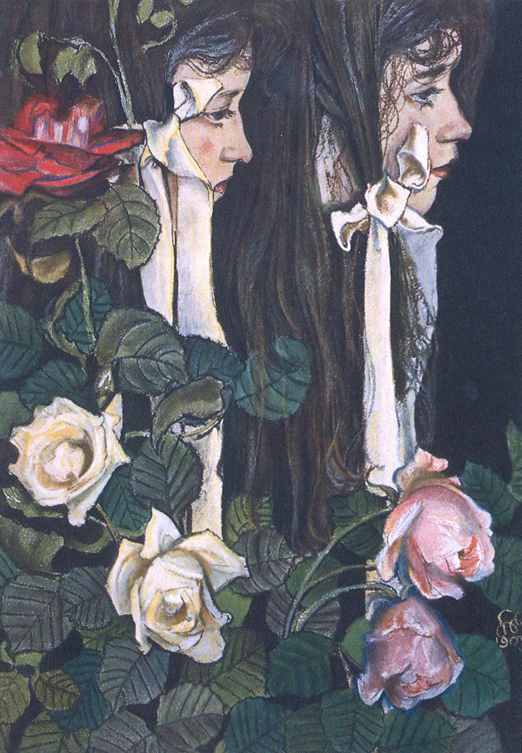 Stanisław Wyspiański, <em>Podwójny portret Elizy Pareńskiej, </em>1905