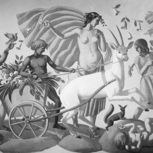 Kawiarnia Mała Ziemiańska Warszawa mural