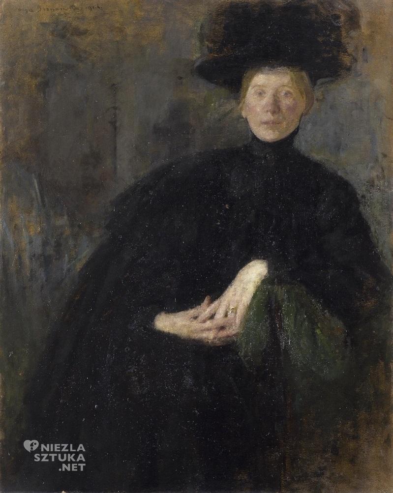 Olga Boznańska, Portret damy, Niezła sztuka