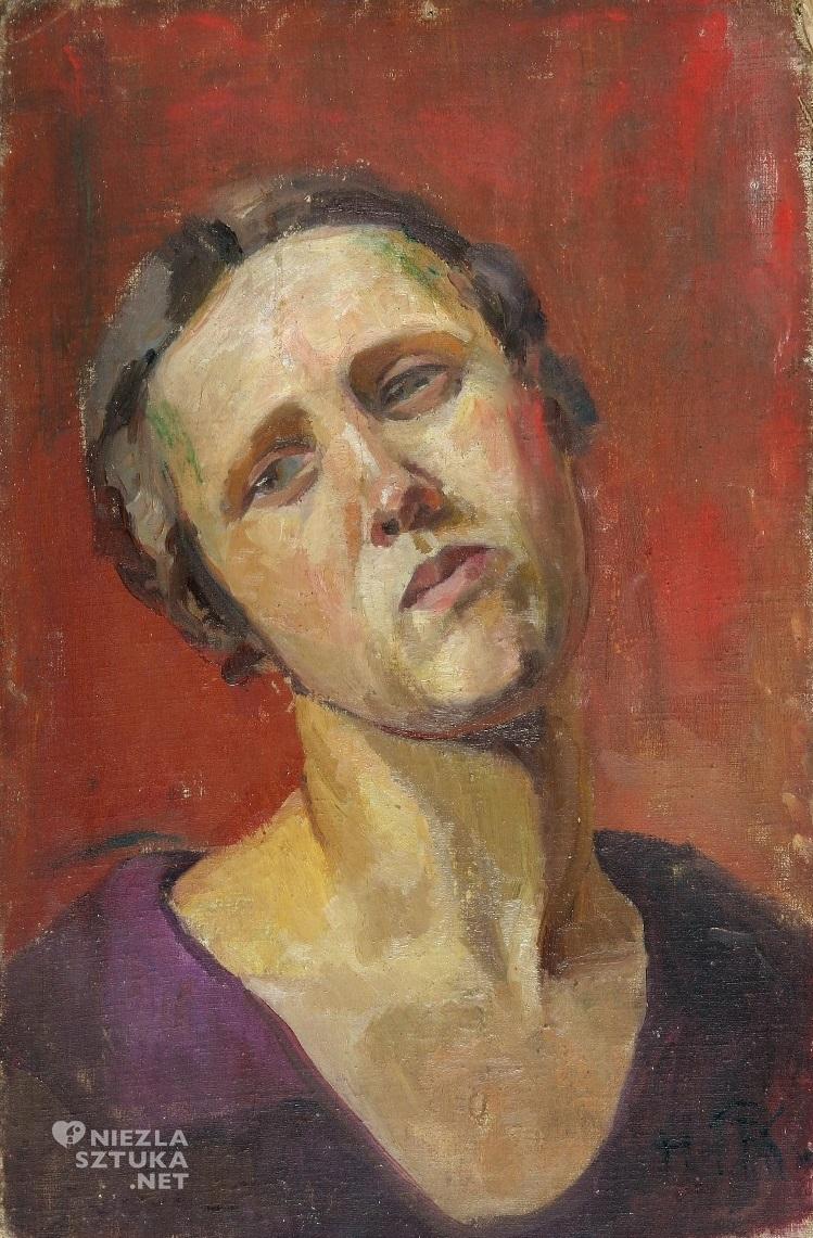 Hanna Rudzka-Cybisowa, Autoportret, polska sztuka, Niezła sztuka