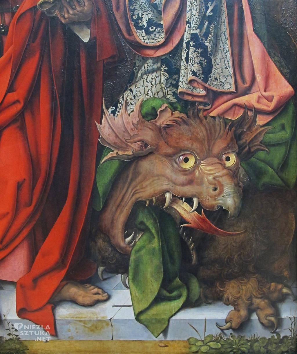 Mistrz Ołtarza św. Bartłomieja Środkowy panel ołtarza Św. Bartłomieja, detal | ok. 1450, Alte Pinakothek, Monachium