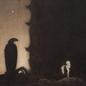 John Bauer, trolle, ilustracja, sztuka skandynawska, Niezła Sztuka
