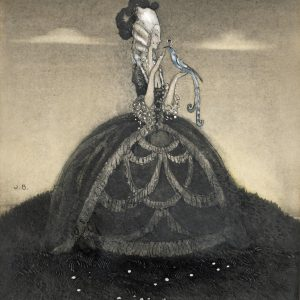 John Bauer, Niebieski ptak, ilustracja, akwarela, sztuka skandynawska, Niezła Sztuka
