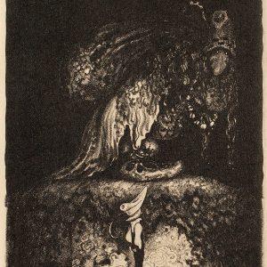John Bauer, litografia, ilustracja, sztuka skandynawska, trolle, Niezła Sztuka