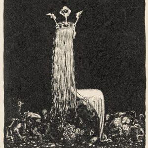 John Bauer, Księżniczka, trolle, ilustracja, litografia, sztuka skandynawska, Niezła Sztuka