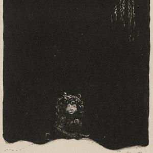 Bauer John, Humpe, trolle, litografia, ilustracja, sztuka skandynawska, Niezła Sztuka