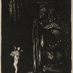 John Bauer, litografia, trolle, ilustracja, sztuka skandynawska, Niezła Sztuka