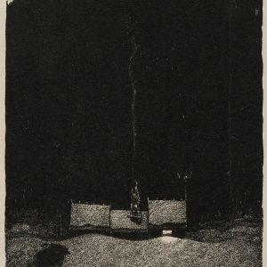 Bauer John, Wigilia, trolle, litografia, ilustracja, sztuka skandynawska, Niezła Sztuka