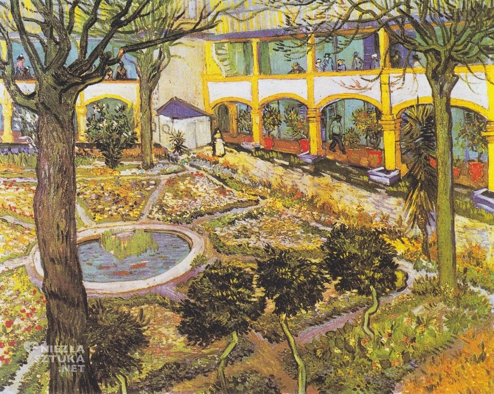 Vincent van Gogh, Dziedziniec szpitala w Arles, Francja, Niezła Sztuka