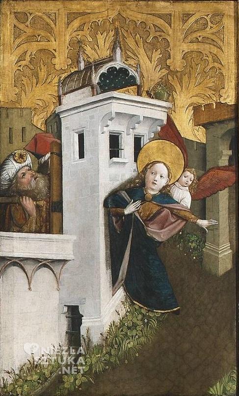 Mistrz Ołtarza św. Barbary, część środkowa Ołtarza św. Barbary (Ucieczka świętej z wieży) | 1447, Muzeum Narodowe w Warszawie