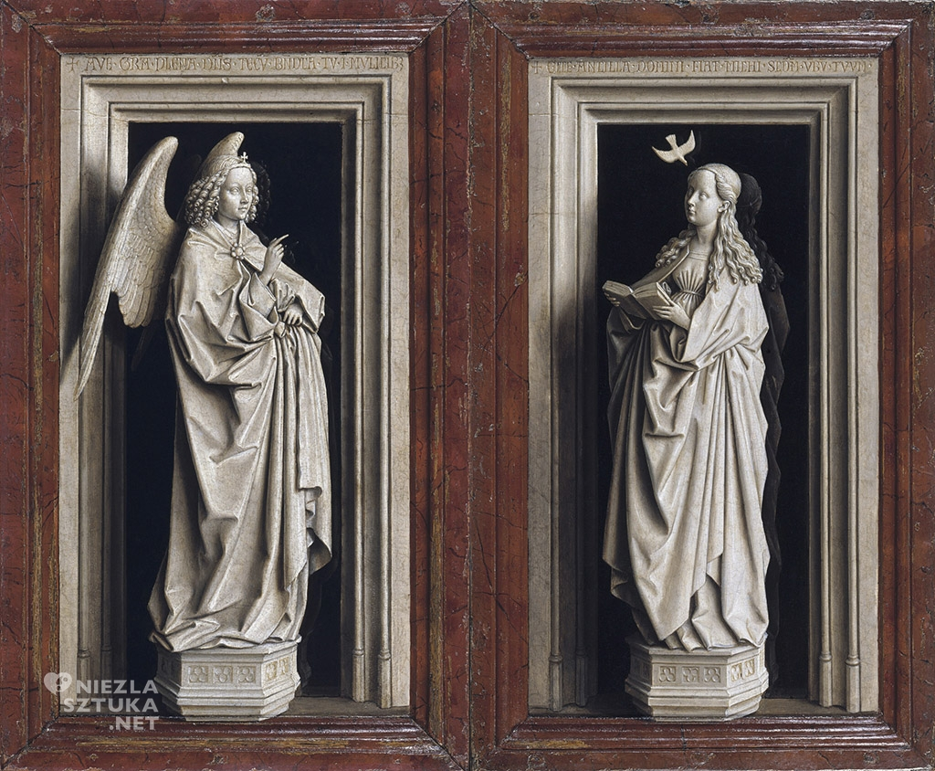 Jan van Eyck, <em>Dyptyk Zwiastowania</em>, ok.1435-1440, 77,6 x 46,4cm, Museo Thyssen-Bornemisza, Madryt