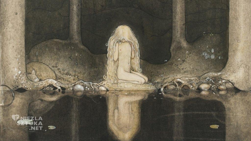 John Bauer, Księżniczka Tuvstarr, ilustracja, sztuka skandynawska, XX w., Niezła Sztuka