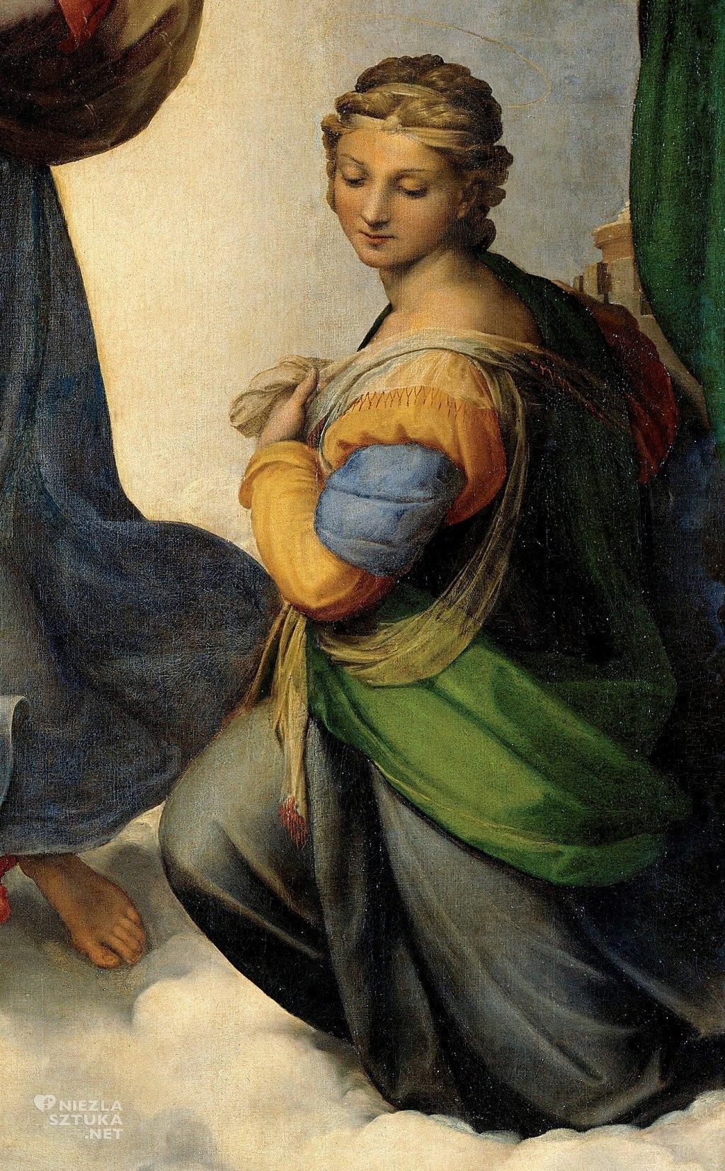 Rafael Santi, Madonna Sykstyńska, święta Barbara sztuka włoska, Niezła sztuka